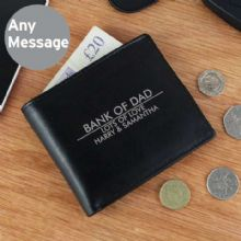 Personalised Classic Black Leather Wallet P1014A14